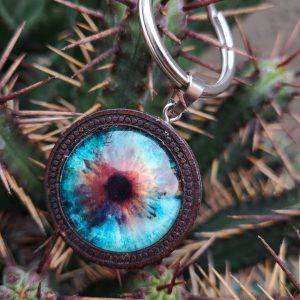 llavero ojo azul Glacial Eye