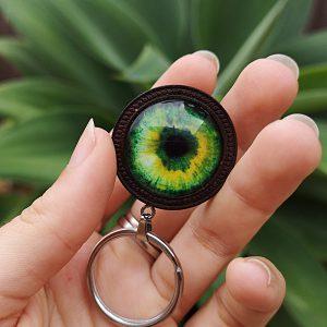 ojo verde - Sharp Green llavero