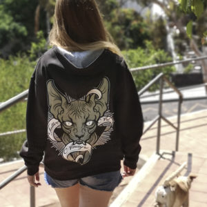 Sudadera Gato by Amayra for Gotamar Tattoo
