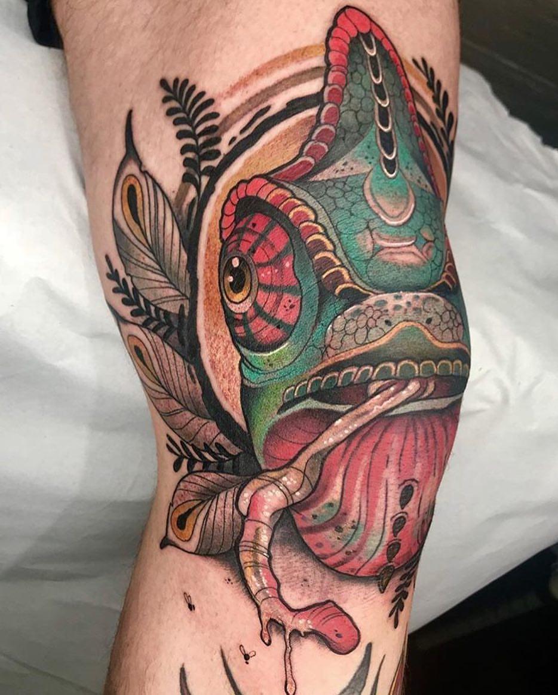 tatuaje camaleón por Shio - Zaragoza