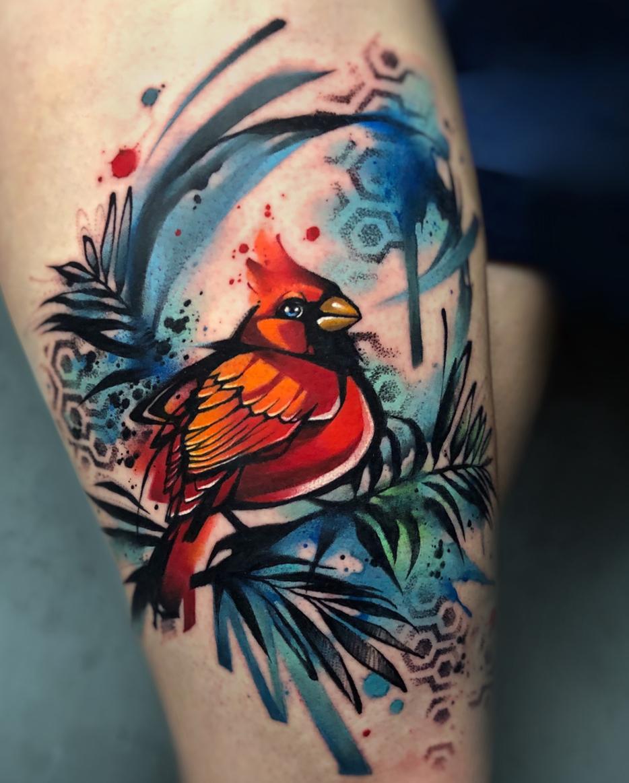 bird - watercolor tattoo by Ewa Sroka
